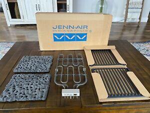 Jenn-Air Designer Line Electric Cooktop Grill Black Lava Rocks