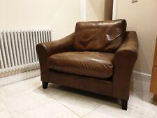 LAURA ASHLEY baslow model brown leather sofa loveseat armchair