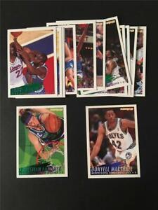 1994/95 Fleer Minnesota Timberwolves Team Set 14 Cards