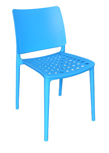 4x Holey Chairs - Blue - Perfect For Outdoor Dining