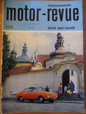Tschechoslowakische MOTOR REVUE  1 - 1973 * Skoda 110 R CZ 250 Enduro Feuerwehr