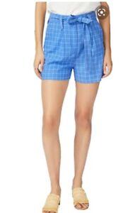 Court & Rowe Womens Dress Shorts Size 8 Plaid Tie Belt Pockets $139 New w/ Tag