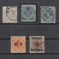 T4311/ GERMANY – WURTEMBERG – 1875 / 1919 USED CLASSIC LOT – CV 235 $