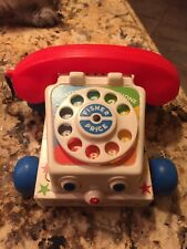 Set of 2 Fisher Price Chatter Phone Telephone Pull Toy #747 1961 1985