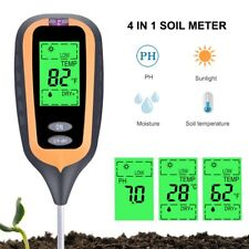 Soil Test Meter  4 in 1 Digital Soil Ph, Moisture, Light, Temperature Test Meter