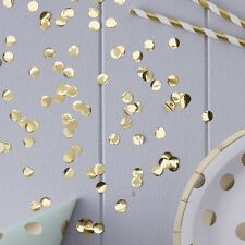 GOLD CONFETTI X-Large Table Party Shiny Confetti 14g Bag Birthdays Anniversarys