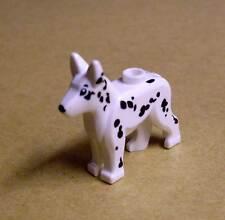 Lego Hund weiss schwarz - Alsatian / German Shepherd - Deutscher Schäferhund Neu
