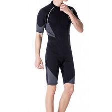 New listing Men 1.5mm Wetsuit Shorty Swimwear Back Zip Neoprene for Diving Adult XXXXL