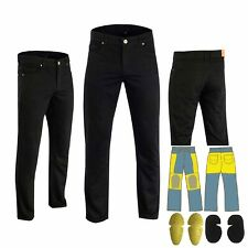 Men Motorcycle Black Denim Jeans Reinforced Made With DuPont™ Kevlar® Fiber