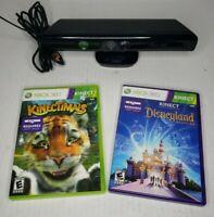 Microsoft Xbox 360 Kinect Motion Sensor Bar w/ 2 Game Bundle - Ships Fast!