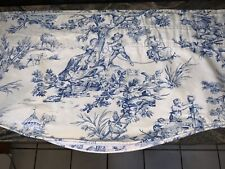 COUNTRY CURTAINS BLUE&WHITE TOILE VALANCE (4)AVAILABLE COUNTRY FRENCH