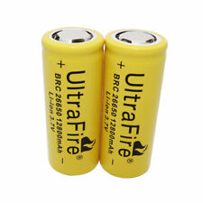 2 X 26650 Li-ion Battery 12800mAh 3.7V Rechargeable Batteries for LED Flashlight