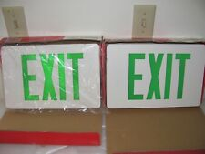 LED Green Exit Lights, 2 Cooper, 1 Lithonia Lighting, 1 Magellan EC