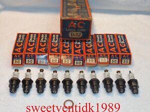 (10)...'NOS' Antique AC  D-12 ....Spark Plugs....Farm Tractors....Dated 1936