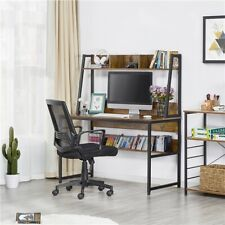 Computer Desk Home Office Desk PC Laptop Study Workstation Table with Bookshelf
