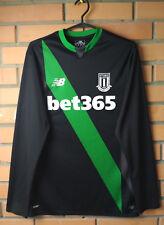Stoke Away football shirt 2015-2016 LONG SLEVEE SIZE S jersey soccer New Balanc