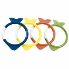 Set of 4 Fish Diving Rings Hydro Weighted Swimming Pool Kids Dive Game 26009