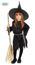 Costume Streghetta Travestimento Strega di Halloween Taglia Bambina 7/9 Anni