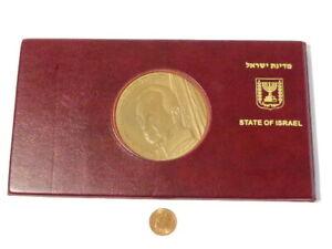 Original Memorial State Medal of Israel Yitzhak Rabin 1995 & FDC in Case