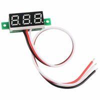5X(0,36 Zoll LED Ultra Kleine DC Digital 0 ~ 100 V Voltmeter Batterie Spann Y4I2