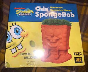 Brand New Spongebob Chia Pet Decorative Planter Factory Sealed 2010