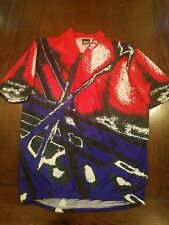 Vintage Louis Garneau All Over Print Bicycle Cycling Tour Jersey XL NWOT