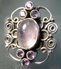 Handmade Rose Quartz Not Enhanced Fine Rings