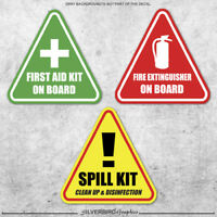 First Aid Fire Extinguisher Spill kit sticker decal caution warning safety 3M