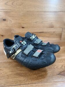 SIDI Airplus Black Cycling Shoes Size 43, Men's US 8.8, Woman's 10.3 Made Italy