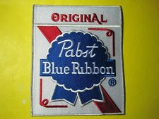 BEER PATCH PABST BLUE RIBBON ORIGINAL PBR BACK SIZE 7 X 6 INCH BEST EMBROIDERY!!