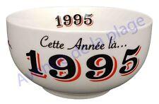 Bol année de naissance 1995 en grès - idée cadeau anniversaire neuf