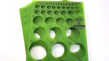 STAEDTLER Rapidesign Combo Circle Templates, #977 110, 20 pcs, NEW, USA