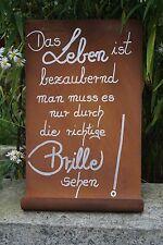 Edelrost Tafel Leben Spruchtafel Handarbeit Wandschmuck Garten Schild Dekoration