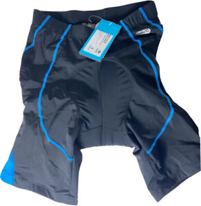 Santic Men's Small Padded Cycling Bike Bicycle Shorts - Black / Blue