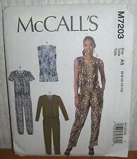 Womens/Misses Romper & Jumpsuits Sewing Pattern/McCall's M7203/SZ 6-14/UCN