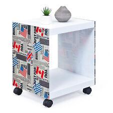 Beistelltisch Flagcube, Tisch, Ecktisch, Couchtisch, Ablage, mit Flaggen,