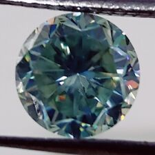 Cut Loose Moissanite Use 4 Jewelry/Ring/Pendant 1.12 Ct 6.77 Mm Vvs1 Blue Round