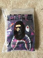 A Bathing Ape Bape Men Shark 1st Purple Camo WGM Full Zip Hoodie Size XL