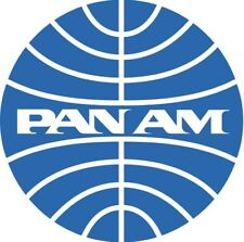 PAN AM AUFKLEBER RUND BLAU NEU AMERICAN STICKER AUTOAUFKLEBER 9,5 CM VINTAGE AIR