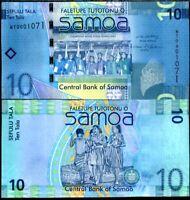 WESTERN SAMOA 10 TALA ND 2008 WT PREFIX P 39 AU-UNC