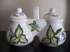 Double Container Designpac, Inc. Ceramic Double Jars with Lids