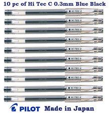 10 pc of Pilot Hi Tec C Pen (Known as G Tec C) 0.3mm Micro fine tip Blue Black