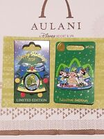 Disney Pin Lot of 2 Pins: Both Limited Edition Aulani 2019 Holiday Pins