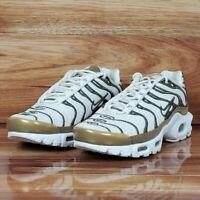 Nike Air Max Plus Premium TN Tuned Women's Size 6.5 Ivory / Gold 848891 101