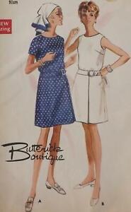 "Vintage Butterick Pattern 5176 1960s A-Line Dress 2 Styles Bust 36ins"" Unused"