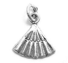 925 Sterling Silver Fan Charm