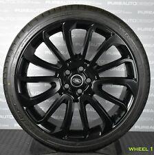 "Range Rover 22"" Turbine Style Viper BLack Alloy Wheels Tyres NO RESERVE x Four"