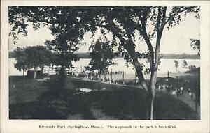 Springfield MA Steamer Boat Sylvia Riverside Park Dock Scene c1910 Postcard #3