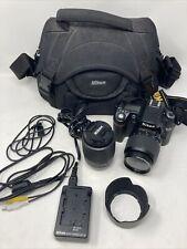 Nikon D80 10.2Mp Digital Slr Camera w/ Dx 18-55 55-200 Lenses + Charger + Bag +