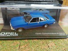 Opel Commodore B GS/E 1972-1977, BLAU, -1/43- Modellauto-Opel Collection Nr. 103